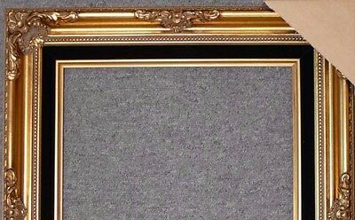 Antique Gold Ornate Wood Picture Frame With Black Velvet Liner B5GB