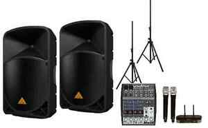 Behringer PA Package + 8 Channel Mixer + Wireless Mic Ryde Ryde Area Preview