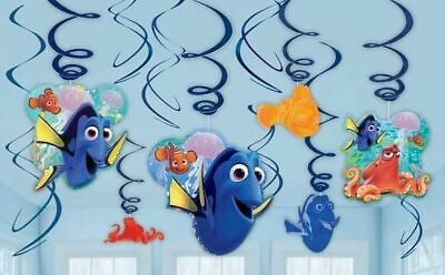 FINDING DORY Swirl Decorations Birthday Party Kids Supplies Nemo