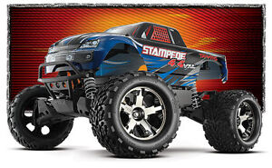 Traxxas RC 1/10 VXL 4WD  Stampede Monster Truck Windsor Region Ontario image 1