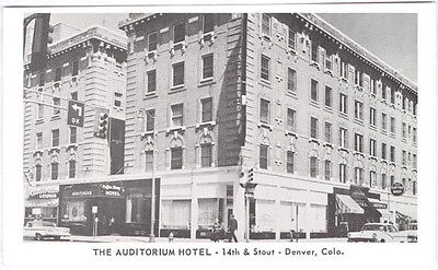 1955 Denver Co Colo The Auditorium Hotel Different Old Unused Postcard Pc308