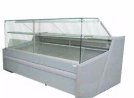 Igloo/BA204 Luzon Glass Serve Over Counter Display Fridge Salad Bar
