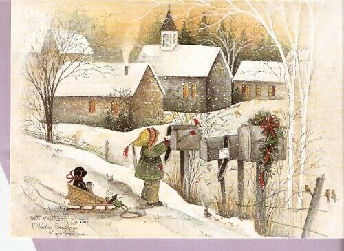 Black Lab Labrador Retriever Mailbox Mail Greetings Christmas Cards Box of 20*