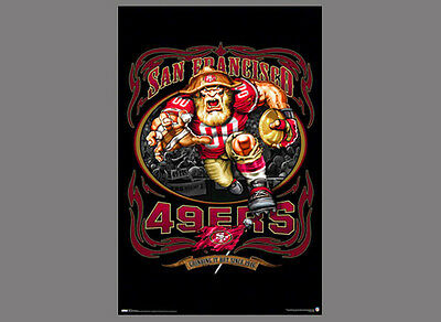 Rare San Francisco 49ers GRINDING IT OUT SINCE 1946 NFL Theme Art Logo POSTER](49ers Theme)