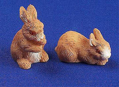 Dolls House 12th Scale - Pair Of Rabbits NB378