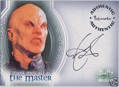 BUFFY THE VAMPIRE SLAYER MEN OF SUNNYDALE A3 MARK METCALF THE MASTER AUTOGRAPH