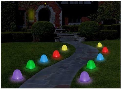 Christmas pathway lights ebay for Sidewalk christmas lights