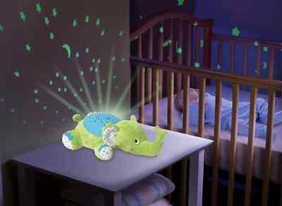 NEW Summer Infant Slumber Buddies Elephant Night Light Baby Nursery Projector .