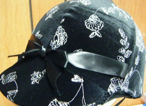 Hunt Helmet Cover/Hunt Covers for Equine(horse)  Velvet Glitter
