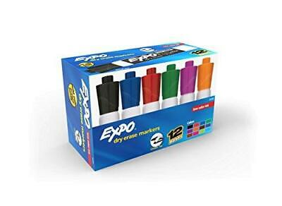 Expo Low Odor Dry Erase Markers Chisel Tip Assorted Colors Box Of 12