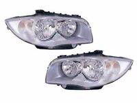 BMW 1Series (E81, E82, E87, E88) LHD Chrome Headlights,- BRAND NEW! RRP £155+