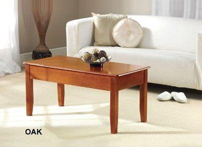 Greenhurst Coffee Table Ingenious Lift Up Top Useful Storage Work Space Oak