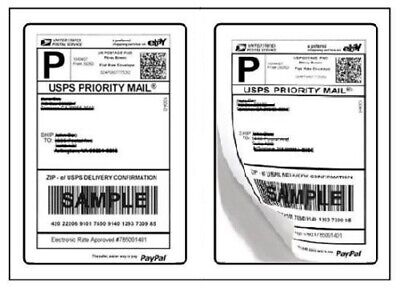 500 Self-adhesive Shipping Labels Round Corner 2 Labels Per Page 250 Sheets