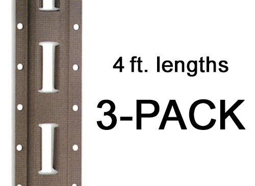 E Track - Mfg. In The USA - 4 ft. Vertical / Trailer Tiedown - 3 Pieces