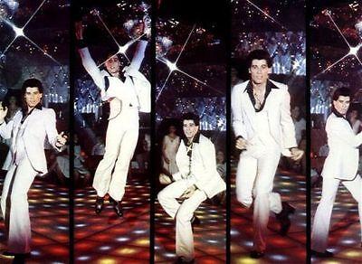 Retro Men's Adult Saturday Night Fever Disco Man Halloween Costume One Size