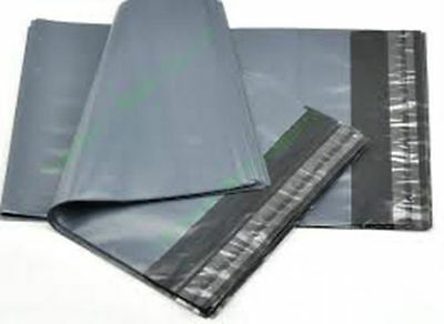 100 x Grey Plastic POLY Mailing Bags 600 x 900 mm 24 x 36 24x36 600x900 uk stock