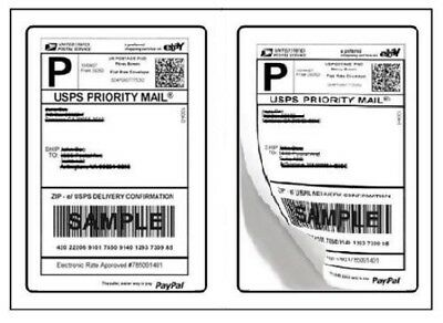 Shipping Postage Labels 2 Labels Per Page 8.5 X 5.5 Usps Fedex Paypal 2-up