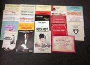 Piano Sheet Music Lot
