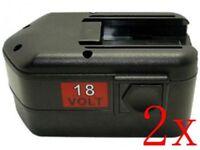2 x 18V 3A Battery for MILWAUKEE 48-11-2200 48-11-2230 48-11-2232 LokTor H 18