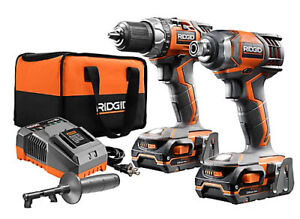 RIDGID X4 18V Li-Ion Cordless Drill and Impact Driver Combo Kit
