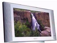 "Philips Silver Coloured 17"" Flat Screen TV and Power Lead."
