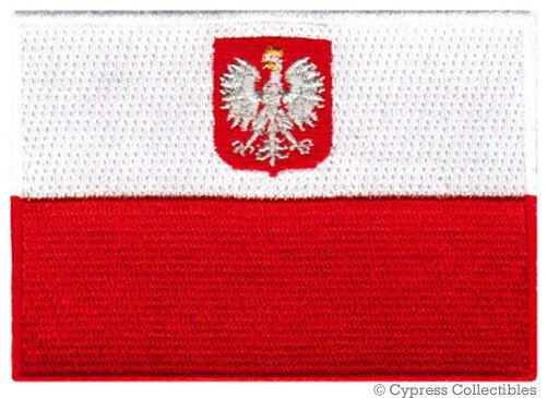 POLAND FLAG embroidered iron-on PATCH POLISH new POLSKA APPLIQUE SOUVENIR EMBLEM