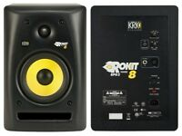 2 x KRK Rokit 8 Studio Monitors