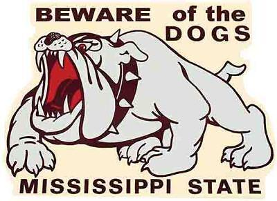 Mississippi State Bulldogs   University Vintage Looking Travel Decal - Mississippi State Bulldog