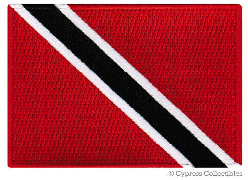 TRINIDAD TOBAGO FLAG embroidered iron-on PATCH CARIBBEAN EMBLEM