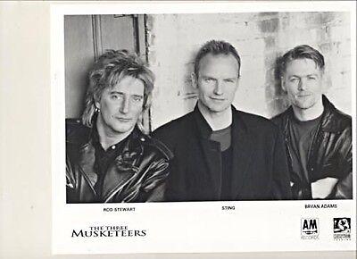 The Three Musketeers OST1994 PRESS KIT + 2 PHOTOS Stewart/Sting/Adams