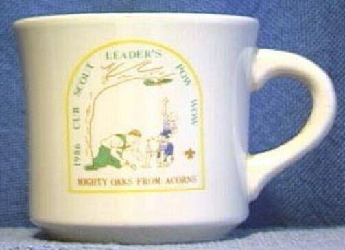 BSA Mug OCC Pow Wow 1986 MIGHTY OAKS FROM ACORNS