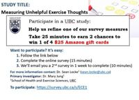Short survey about exercise thoughts [win $25 Amazon gift card]