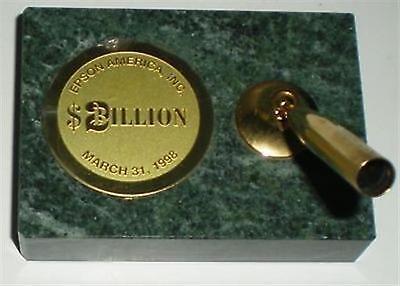Desk Pen Holder Epson America Inc 2 Billion March 31 1998 Marble Gold Plate