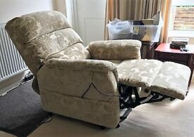 CareCo Chair - Rise Recliner - Moss Madison model with dual motor controller