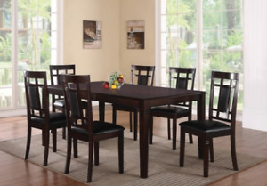 7 PIECE SOLID WOOD DINING SET FOR $499 ONLY..DEAL OF THE WEEK!!!