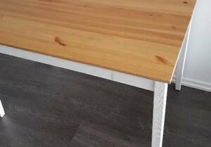 IKEA DINING TABLE LERHAMN TABLE WITH 2 HENDRIKSAL  CHAIRS