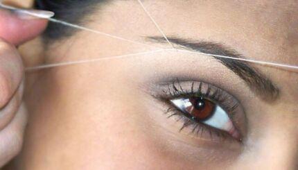 Eyebrow threading $5(full face threading $15)