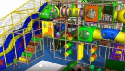 Large commercial 3 Level Kids Indoor Play Equipment Structure