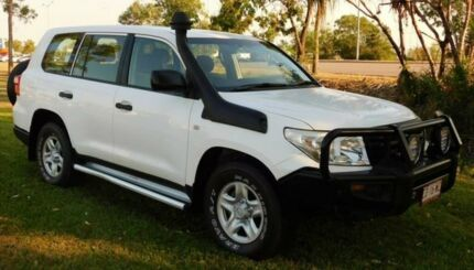 2013 Toyota Landcruiser VDJ200R MY12 GX White 6 Speed Automatic Wagon Berrimah Darwin City Preview