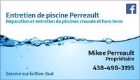 Réparation,  fermeture et nettoyage de piscine