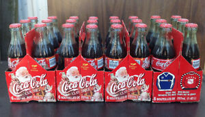 1999 & 2000 Coca Cola / coke 6 pack bottles with carriers