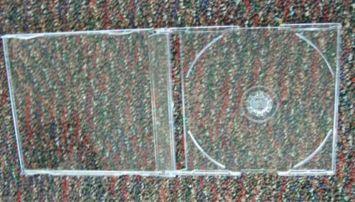 "2 pcs 7.2MM MAXI SLIM SINGLE CD JEWEL CASE ""J"" CARD PSC17"