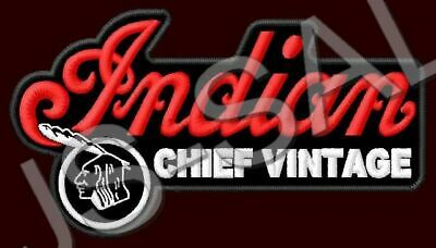 INDIAN CHIEF VINTAGE PATCH MOTORCYCLES BIKE RIDE V2 CRUISER THUNDERSTROKE 111CU