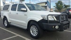 2013 Toyota Hilux KUN26R MY12 SR5 Double Cab White 4 Speed Automatic Utility Berrimah Darwin City Preview