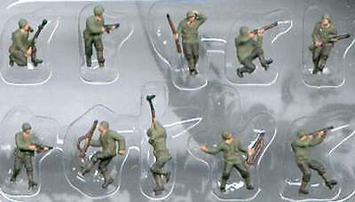 Pegasus 0852 World War II American Infantry 1/144 Scale Model Figures Painted