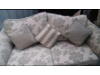 2 Seater Sofa-bed and 2 chairs