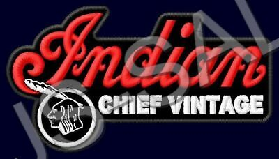 INDIAN CHIEF VINTAGE PATCH MOTORCYCLES V-TWIN CRUISER V2 BIKE CLASSIC 111 CUI #4