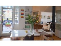 Spacious Dalston flat can be hired out short term as workspace / home office