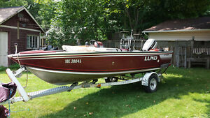 16.5' Lund fishing boat with 50hp Johnson- Reduced by $1000.00 Peterborough Peterborough Area image 2