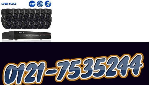 cctv camera system hd/ahd dvr 16 channel with 4tb ahd + 16 cameras + phone app free xmeye